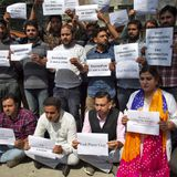 Journalists in Kashmir Stage a Silent Protest