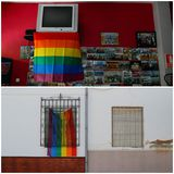PHOTOS: Spanish village makes its own rainbow after council's gay pride flag banned
