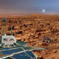 Colonising mars using bacteria