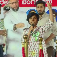 Sedition charges against the woman who raised Pakistan Zindabad slogans at Owaisi's rally