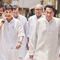 Madhya Pradesh: Scindia resigns from Congres, set to join BJP