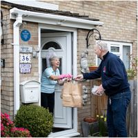 UK volunteer group delivers food to the over seventies during the Coronavirus pandemic