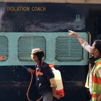 How will COVID patients survive Delhi's non-AC railway isolation wards in the scorching heat?