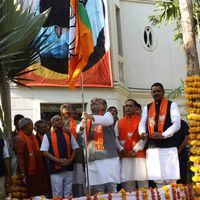 BJP propels party campaign with flags and a dash of nationalism