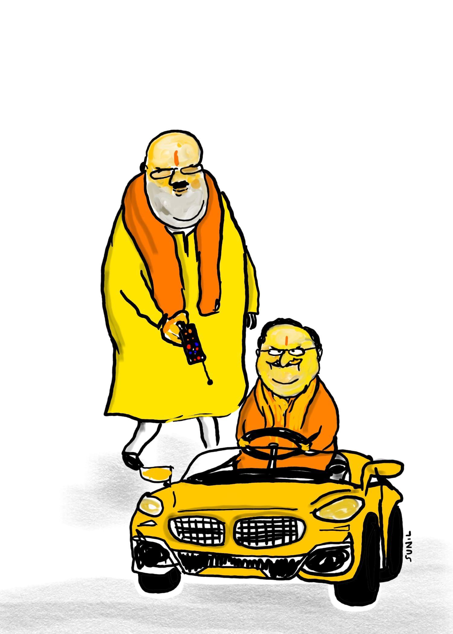 பாஜக தேசிய தலைவராக ஜேபி.நட்டா தேர்வு - கார்ட்டூன்