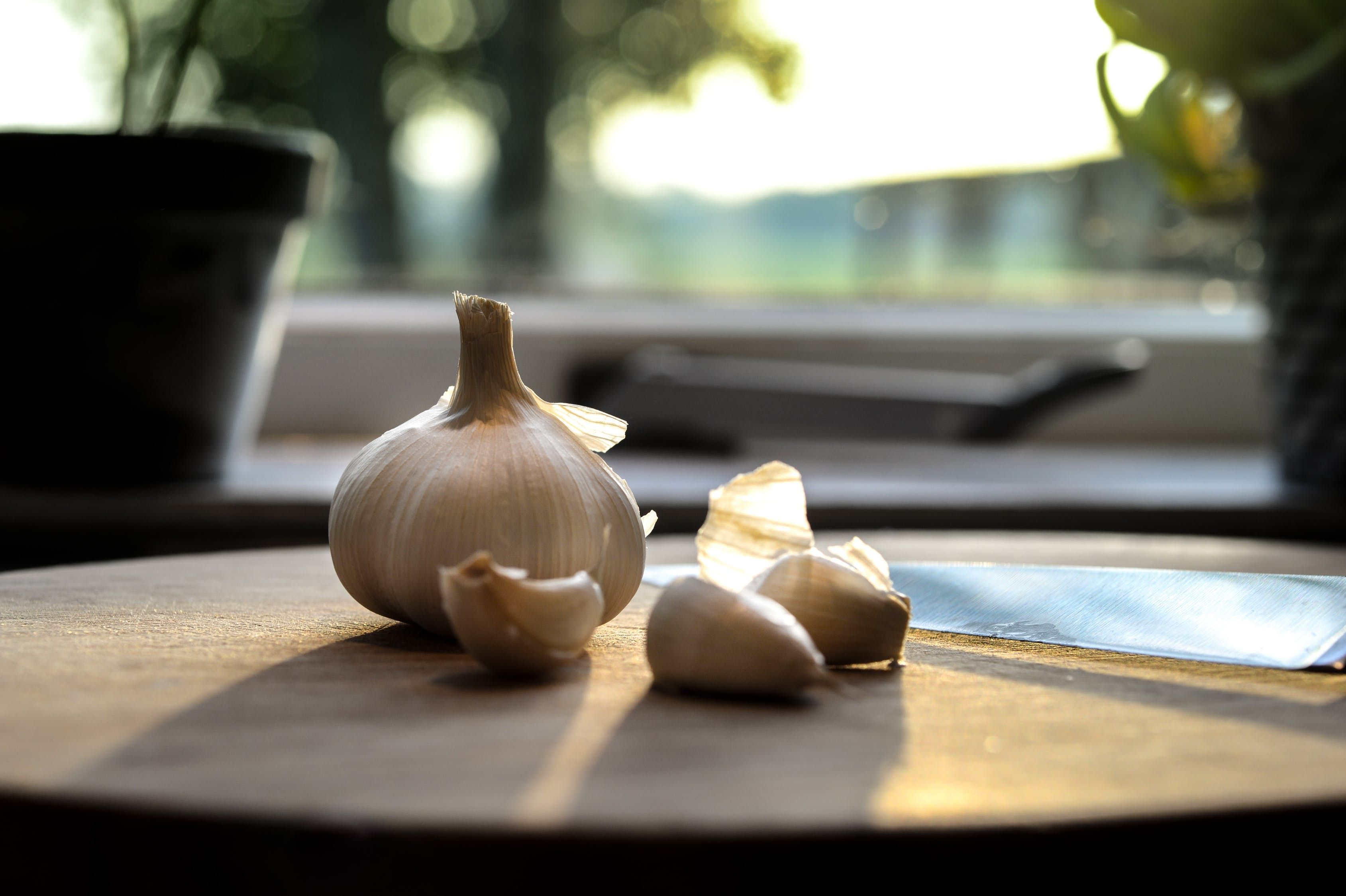 Garlic is another source of prebiotics that promotes the growth of beneficial gut bacteria.