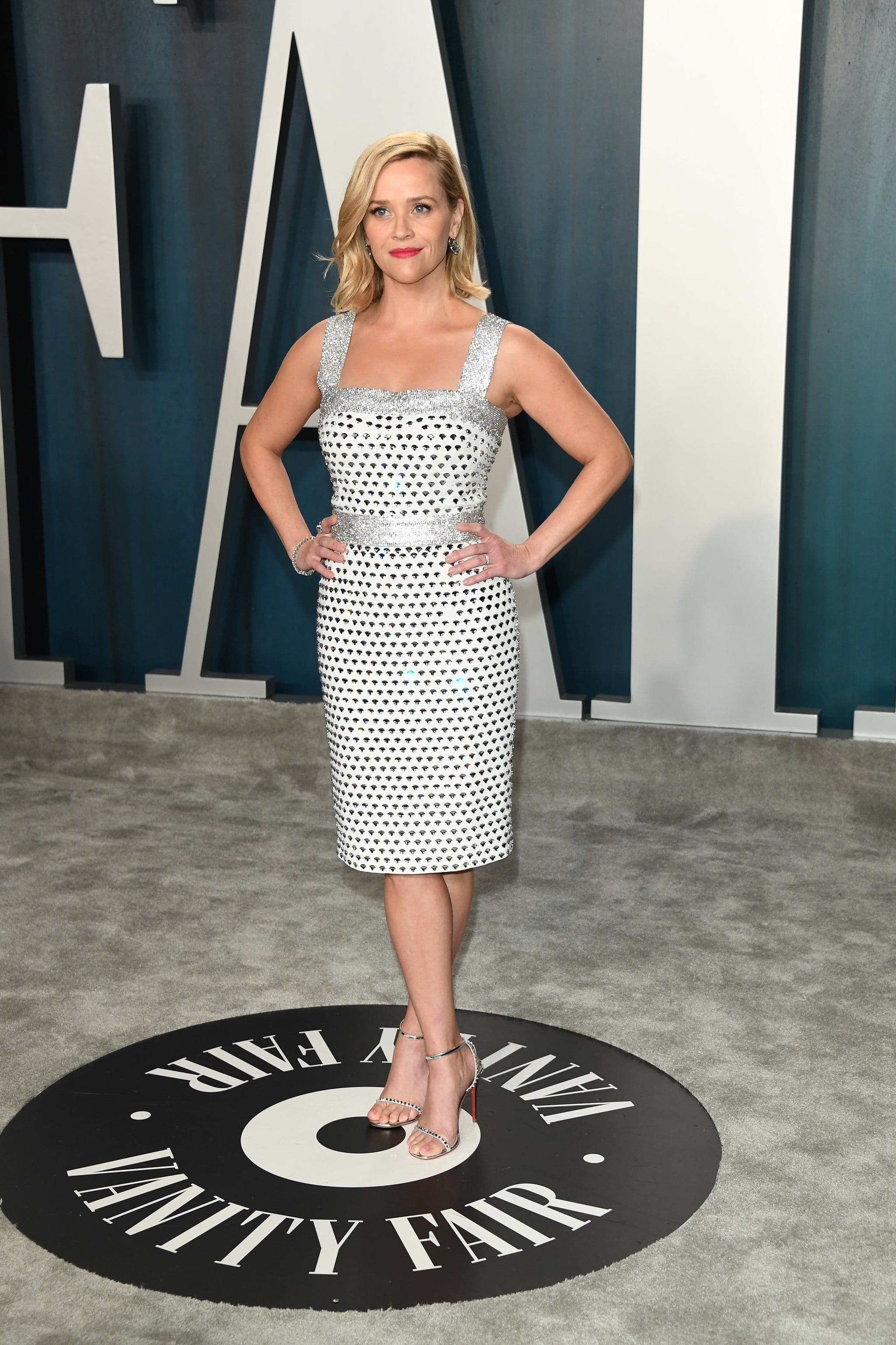Reese Witherspoon at the Vanity Fair Oscars afterparty 2020.