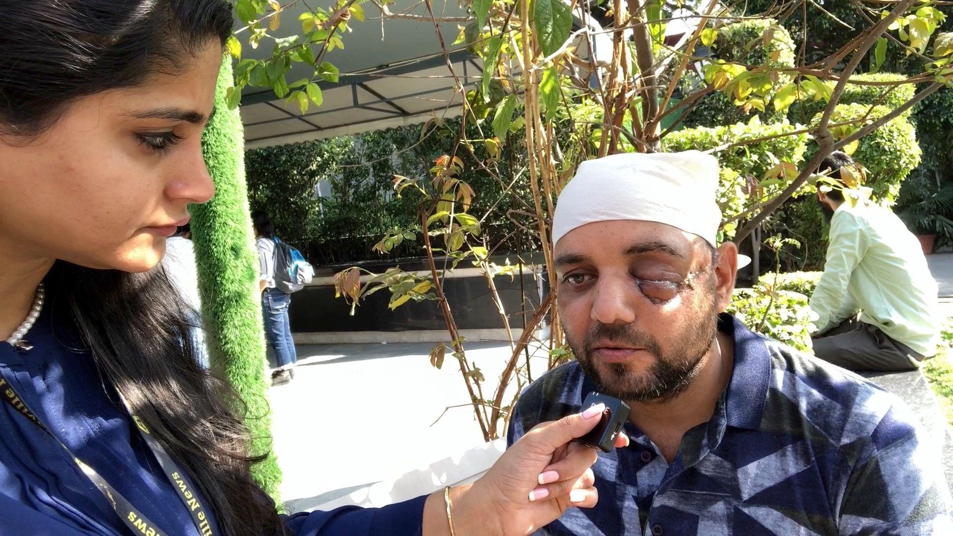 दंगा पीडितों की कॉन्सटिट्यूशन क्लब में हुई जनसुनवाई के दौरान नासिर ने एशियाविल हिंदी से बात की