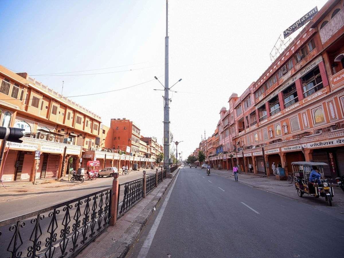 जयपुर में पसरा सन्नाटा