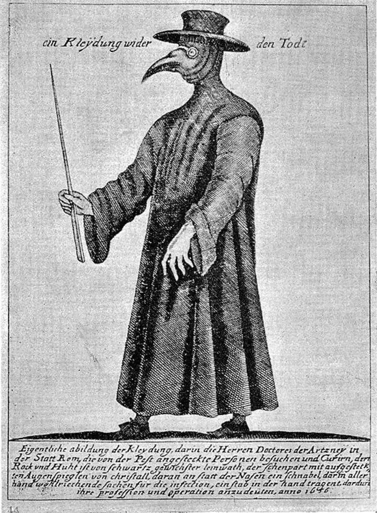 The plague doctor in Europe   Image Courtesy: Wellcome Collection, CC BY