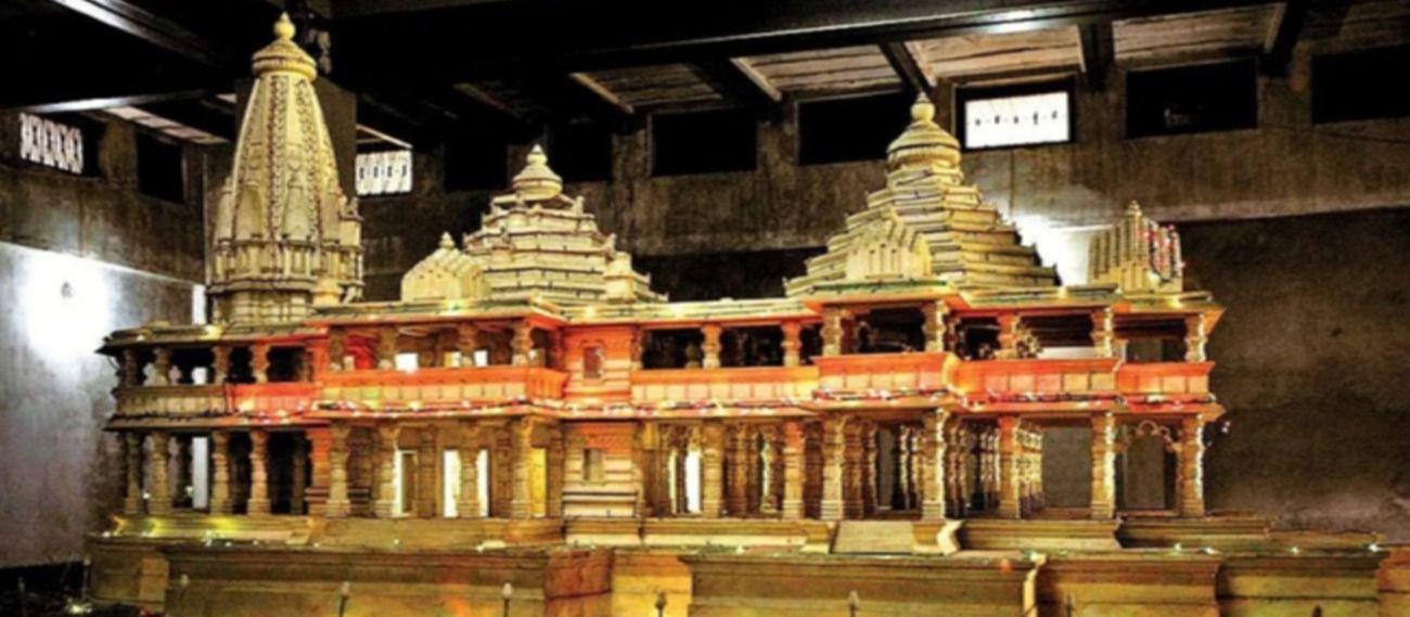 अयोध्या में बनने वाले राम मंदिर का पुराना मॉडल.