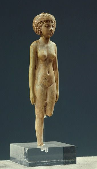 Naked female statue - Ivory (3rd period low intermediate age), Egyptian Art, Louvre Museum, Egypt. (Photo by: Christophel Fine Art/Universal Images Group via Getty Images)